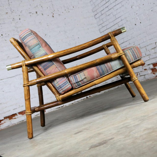 John Wisner for Ficks Reed Rattan Lounge Chair For Sale - Image 6 of 13