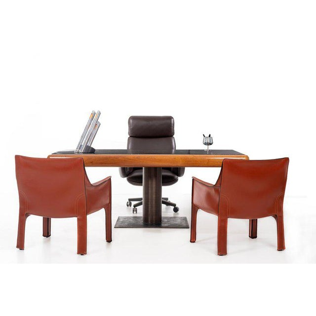 1960's Teak and Marble Executive Desk For Sale - Image 10 of 11