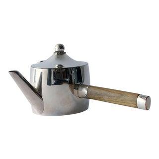 Early Josef Hoffmann Wiener Werkstätte Silver Teapot For Sale