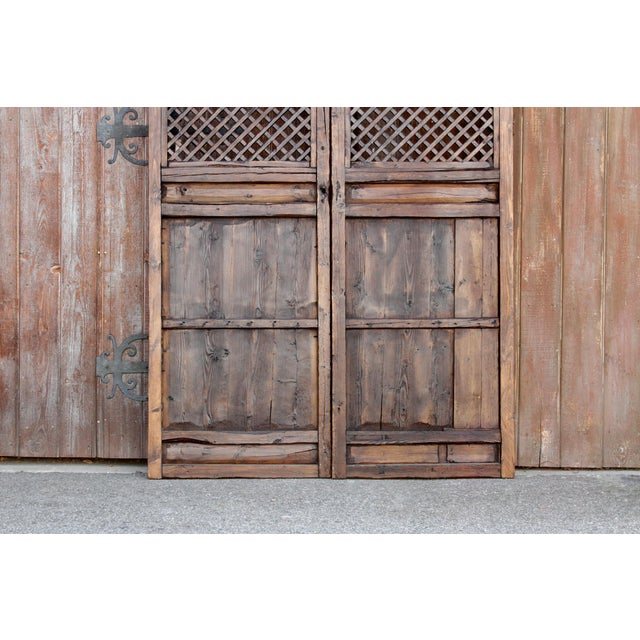 Rustic Chinese Lattice Panels Set of 2 For Sale In Los Angeles - Image 6 of 7