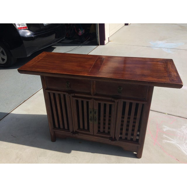 Asian Solid Wood Cabinet - Image 9 of 9