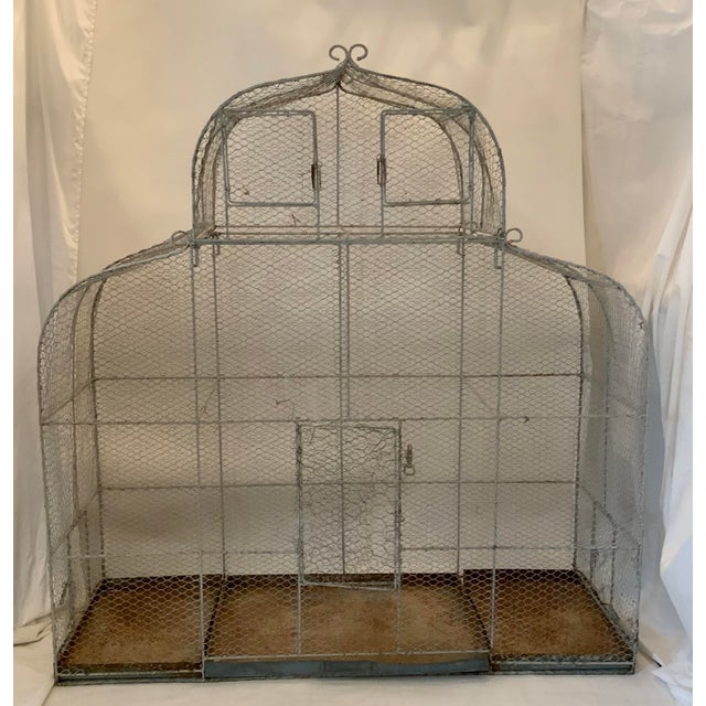 Vintage 1950s French Style Metal Birdcage For Sale - Image 13 of 13