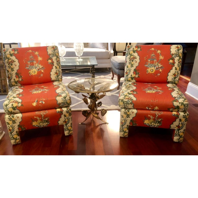 Vintage Chinoiserie Accent Chairs - A Pair For Sale - Image 9 of 11