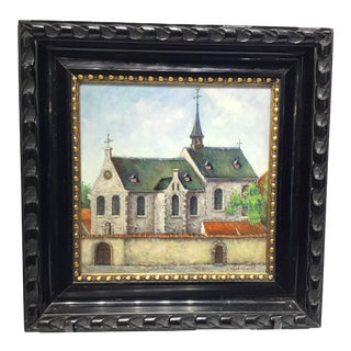 """Early 20th Century Oil Painting by """"K. Vlaeminckx"""" For Sale"""