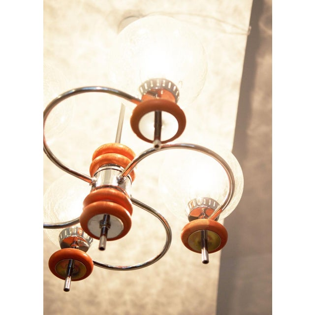 Austrian ceiling lamp, 1970s For Sale - Image 4 of 8