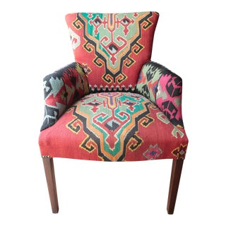 Vintage Kilim Armchair For Sale