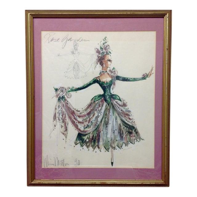 "Original Winn Morton Gown Design ""Rose Garden"" For Sale"
