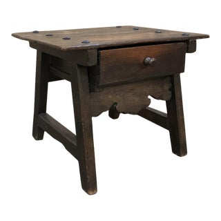 19th Century Rustic Dutch End Table For Sale