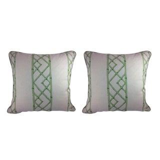 "Sarah Richardson's ""Latticely"" in Jade Pillows - a Pair"