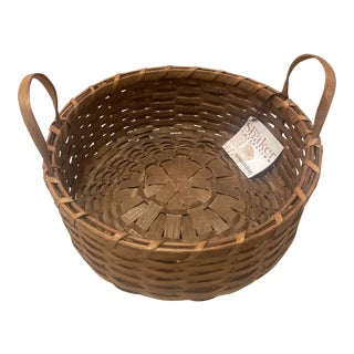 1970s The Shaker Collection Basketville Pie Carrier Basket For Sale