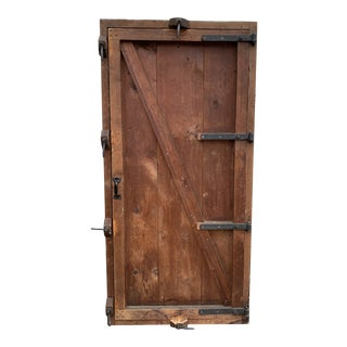 Antique Industrial Shipping Crate Wardrobe For Sale