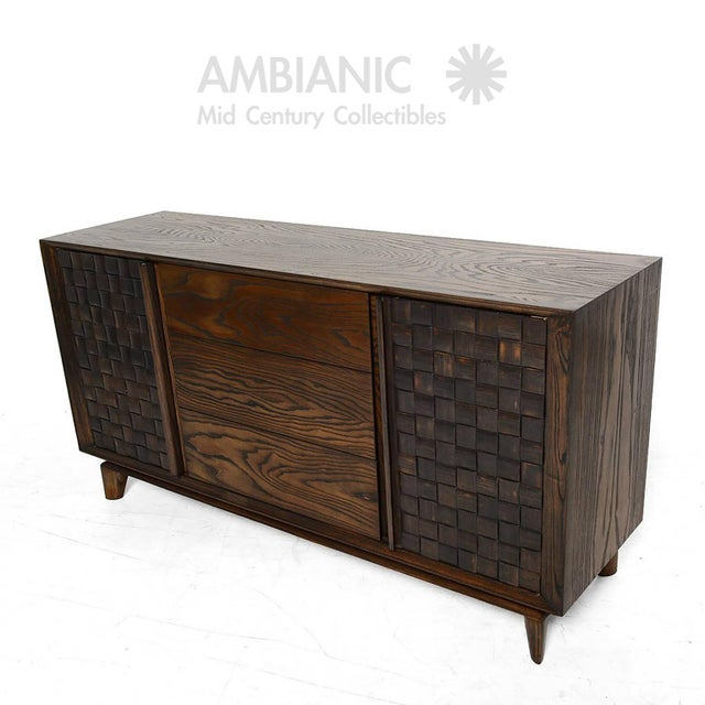 Mid-Century Modern Modern Checkered Credenza by Paul Laszlo for Brown Saltman For Sale - Image 3 of 10