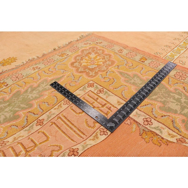 Late 19th Century Late 19th Century Antique Turkish Oushak Rug - 10'09 X 13'03 For Sale - Image 5 of 10