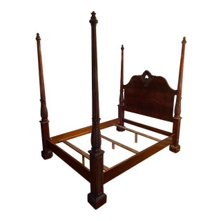 Traditional Henredon Four Poster Queen Bedframe For Sale