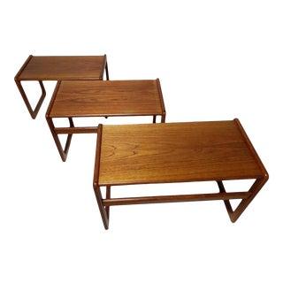 Vildbjerg Møbelfabrik Danish Teak Nesting Tables - Set of 3