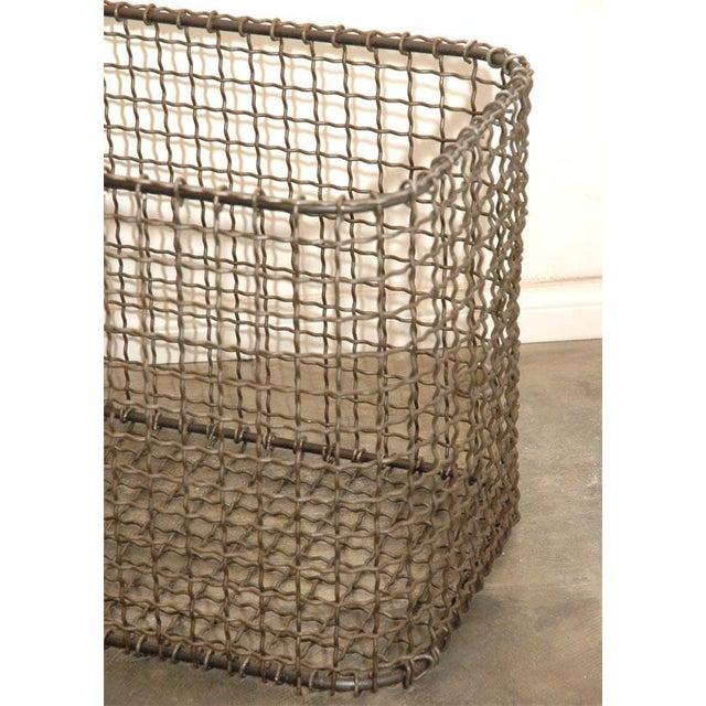 Black JW Wire Basket For Sale - Image 8 of 9