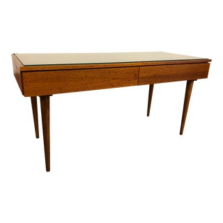 Teak Double Nightstand With Tapered Legs For Sale
