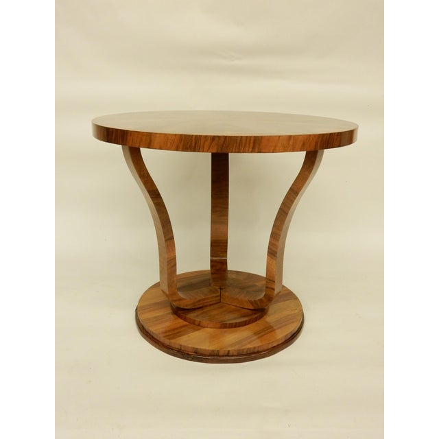 Art Deco Round Tulip Shaped Side Table For Sale - Image 4 of 6