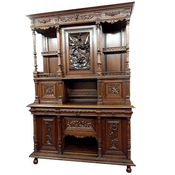 Late 19th Century Antique French Renaissance Style Cabinet For Sale - Image 13 of 13