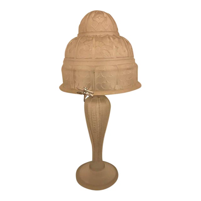 French Art Deco Table Lamp by Gênet et Michon - Image 1 of 10