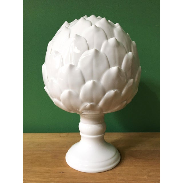 White Porcelain Artichoke Sculpture For Sale In New York - Image 6 of 6