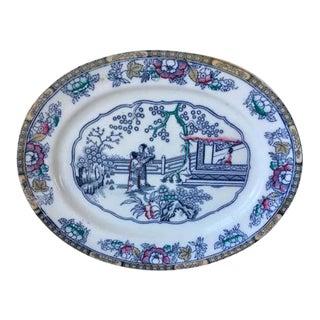 Antique Ashworth Ironstone Platter For Sale