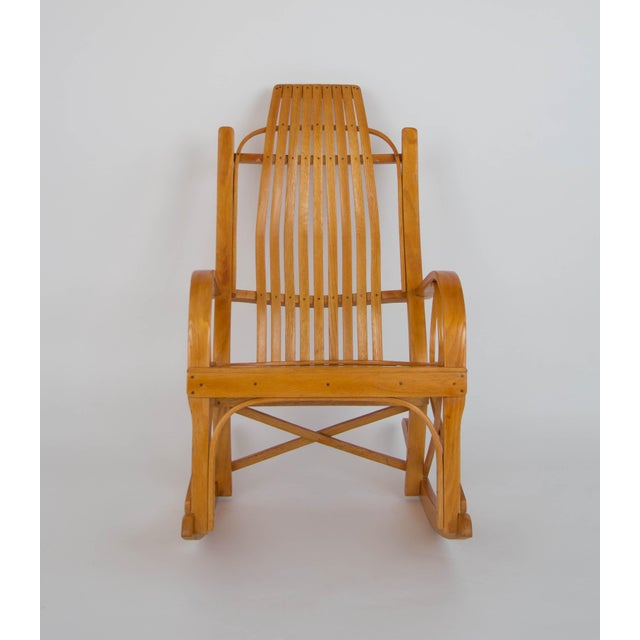 Adirondack Bentwood Adirondack Rocking Chair with Slatted Seat For Sale - Image 3 of 9