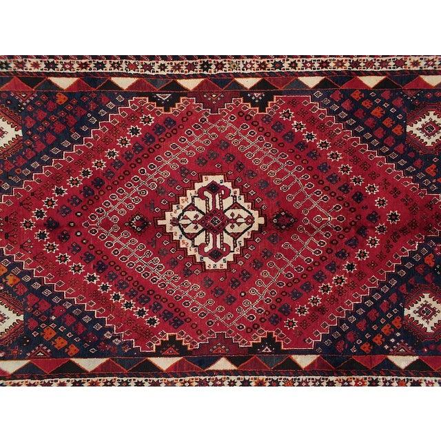 "Vintage Persian Qashghai Rug - 5'3"" X 8'4"" - Image 2 of 3"