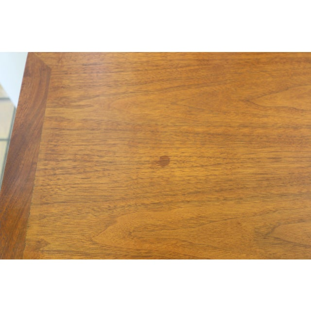 Brown Lane Rhythm Mid-Century Walnut Side Table For Sale - Image 8 of 10