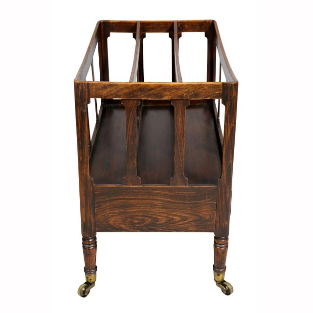 Regency Rosewood and Faux Rosewood Canterbury For Sale In Boston - Image 6 of 9