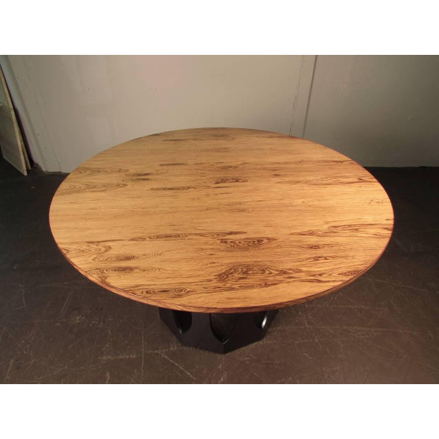 Harvey Probber Bleached Rosewood & Mahogany Dinette Table - Image 6 of 6