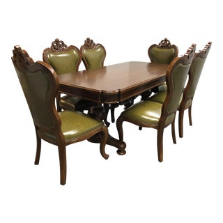 Traditional Style Dining Table and Chair - 7pc.