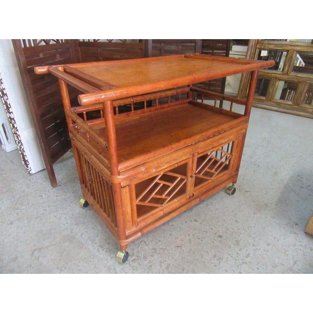 Tortoise Shell Bamboo Cart - Image 6 of 8