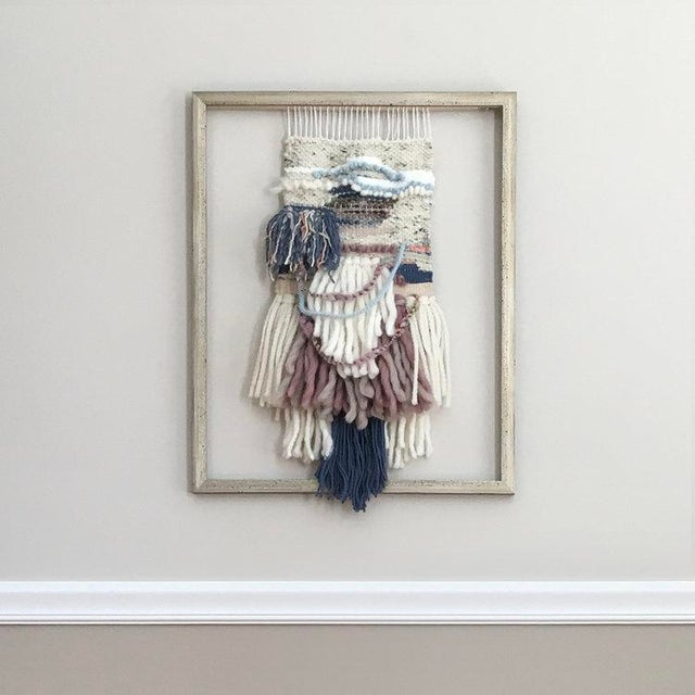White Dolores Tema, Weaver's Tale Painting, 2018 For Sale - Image 8 of 8
