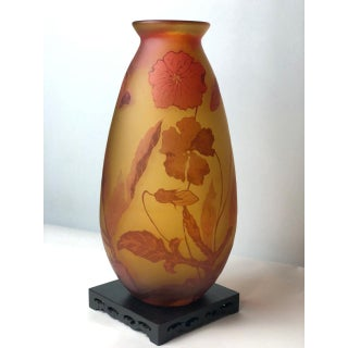Poppy Flower Cameo Glass Vase Preview