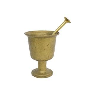 Large Brass Pestle & Mortar For Sale