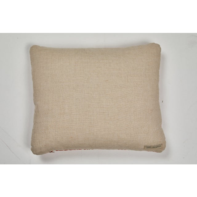 Early 20th Century Moroccan Fez Embroidery Pillow For Sale - Image 5 of 6