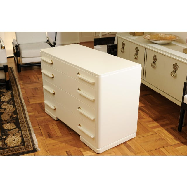 Sublime Restored Streamline Moderne Commode by Gilbert Rohde, circa 1930 For Sale - Image 10 of 13