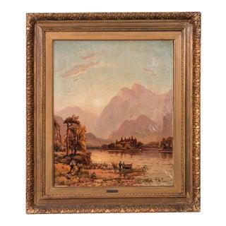Antique Original Landscape Oil Painting Signed D. McLea 1911 For Sale