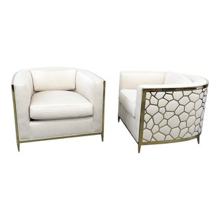Pair of Caracole Ice Breaker Chairs For Sale