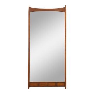 Merton Gershun for Dillingham Esprit Mid Century Walnut Mirror For Sale