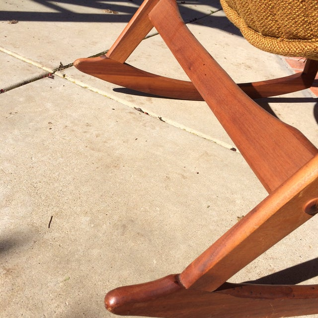 Mid-Century Sculptural Rocking Chair by Jerry Johnson For Sale - Image 10 of 11