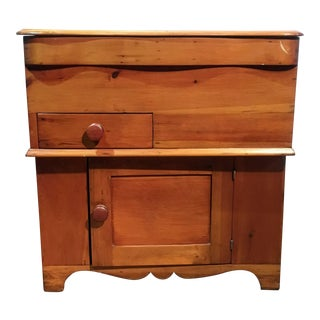20th Century Traditional Pine Lift Top Commode or Dry Sink For Sale
