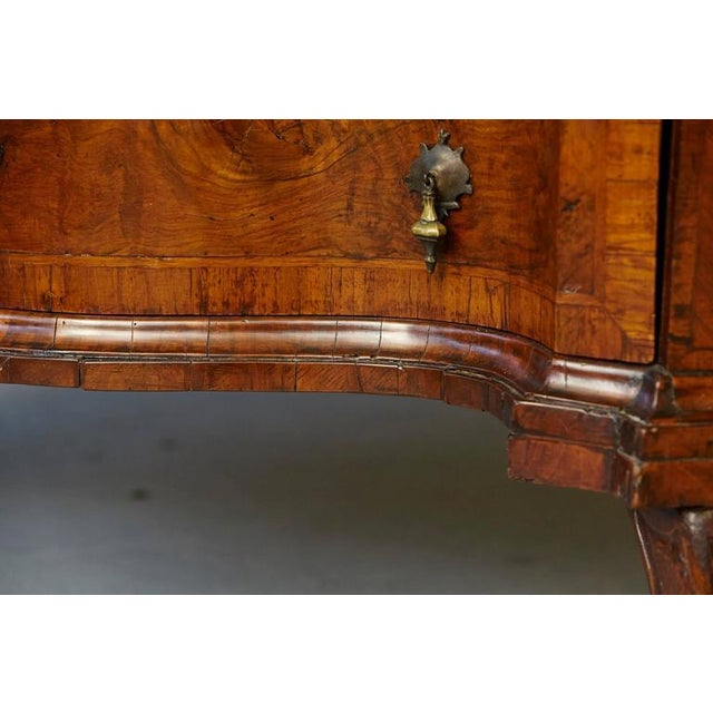 Italian Burled Walnut Slant Front Desk with Hidden Drawers For Sale - Image 10 of 10