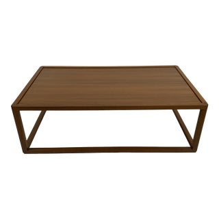 1950s Danish Modern Cube Style Teak Cocktail Table For Sale