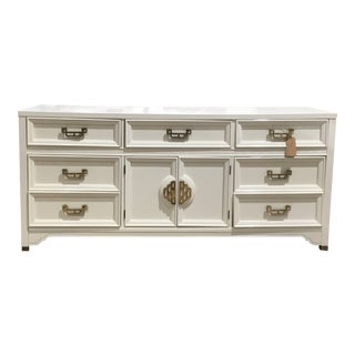Mid Century Modern Henry Link Newly Lacquered Navajo White Chest of Drawers For Sale