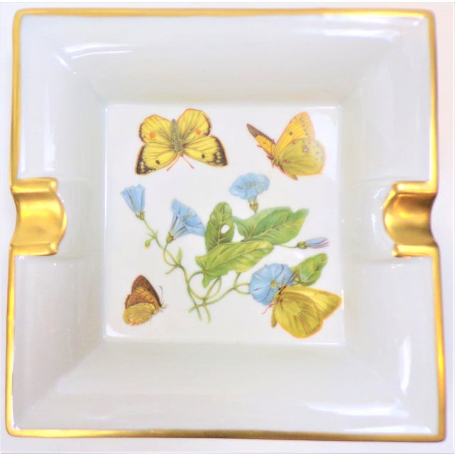 Vintage Hermes Style Butterfly Ashtray With Suede Bottom For Sale - Image 13 of 13
