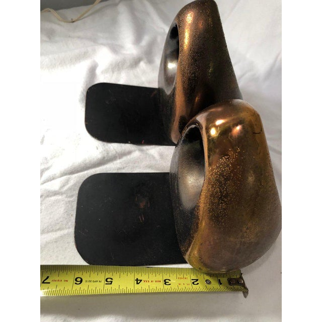 1960s JenFred Ben Seibel Copper Finish Orb Bookends - a Pair For Sale - Image 5 of 10