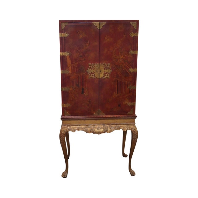 Maitland Smith Hand-Painted Chinoiserie Cabinet - Image 1 of 10