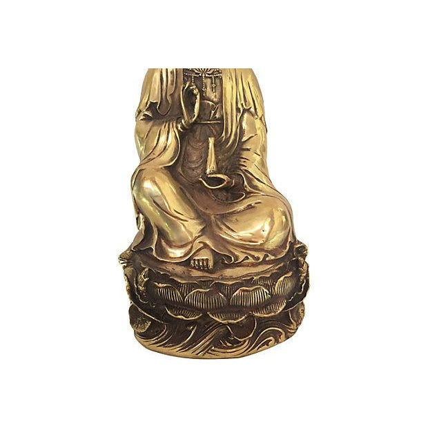 Quan Yin Brass Statue - Image 2 of 8